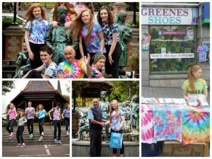 Greenes Shoes cross promotion with young local entrepreneur Sabs Tie Dye T shirts