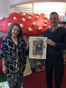 "Artist Samantha Robinson creates ""Glitter Fairy"" as part of launch for Crafty Kids new store"