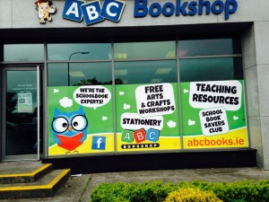 Design of ABC Bookshop Galway window